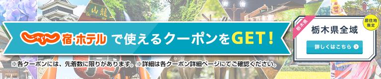 【栃木県】宿・ホテルの宿泊のみ予約に使える!じゃらんクーポン